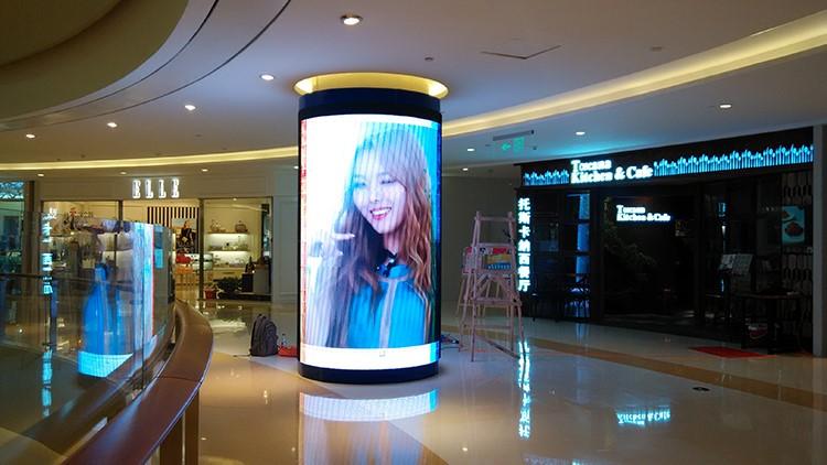 Shopping mall column LED display